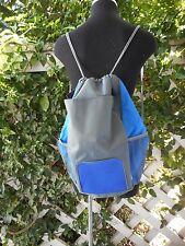 SLAZENGER  Blue Gray String Drawstring Backpack Competition Cinch Gym Sport Bag