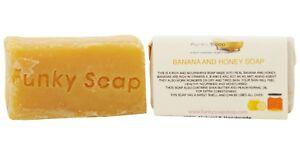 1-piece-Banana-amp-Honey-dry-skin-Soap-65g-100-Natural-Handmade