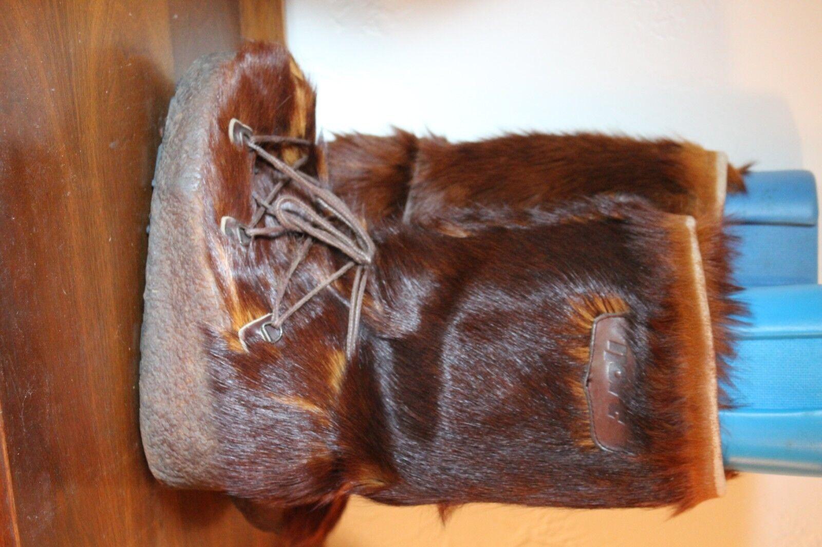 Nort iglú de Italia Vintage Fur botas de Esquí Boho Yeti Sasquatch Navajo para hombres 9