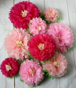 Details About Tissue Paper Flowers Unique Birthday Party Wedding Decoration Paper Flower Wall