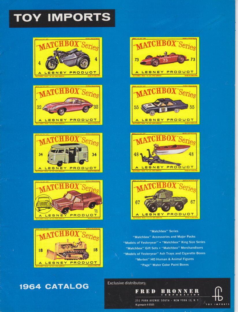 MATCHBOX  LESNEY Bronner commerçants catalogue 1964 USA Top  économiser sur le dédouanement