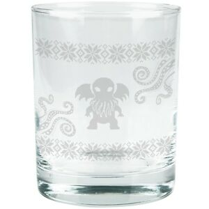 Cthulhu Ugly Sweater Etched Glass Tumbler