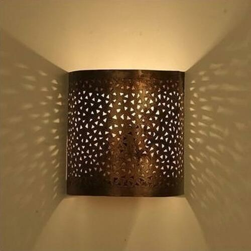 Lampe de Mur Oriental Abat-Jour Marocaine Applique Murale Meditera