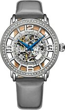 Stuhrling Women's  3941 Automatic Self Wind 38mm Skeleton Dress Leather Watch