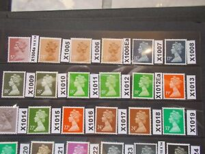 GB-1971-gt-Specialised-Machin-Collection-18-X1004a-X1019-Unmounted-Mint-J-UK