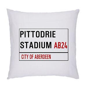 Aberdeen F C football ground Street Sign Cuscino/Cuscino Inc imbottitura. pittodrie  </span>
