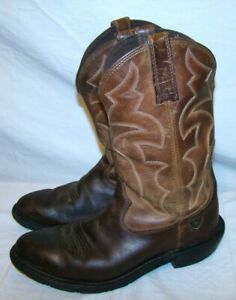 ARIAT-IRONSIDE-H2O-ATS-Waterproof-Brown-Leather-Work-Western-Boots-8-5-D