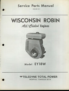 factory teledyne wisconsin robin engine ey 18 w repair service parts rh ebay co uk