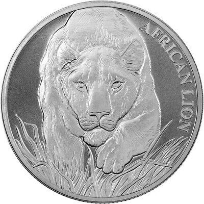 African Lion 2015 2016 2017 2018 Burundi Congo Chad 4-1 oz Silver Coins capsules