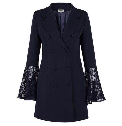 doppio pizzo vestibilità da in petto Cappotto slim lusso di elegante donna F0YzB
