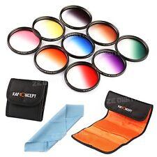 9pcs 49mm Graduated Color ND Lens Filter Kit For Sony NEX-7 NEX-5N NEX-c3 18-55