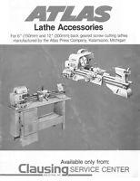 1990 Atlas Lathe Accessories For 6 And 12 Instructions