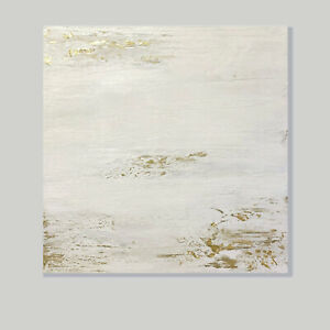 Large-abstract-on-canvas-Art-Minimalist-White-amp-Gold-Leaf