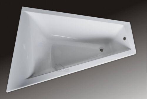Badewanne Eckbadewanne Trapez Acryl 150 x100 cm ohne// mit Schürze Ablauf B links