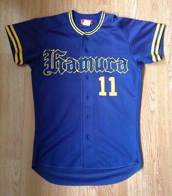 REWARD #1 HAMURA JAPANESE BASEBALL SPORTS VINTAGE RETRO JERSEY SHIRT UK S