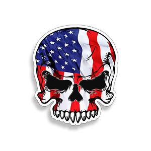 American Flag Car Window Bumper Phone Helmet Decal Sticker USA Red White Blue