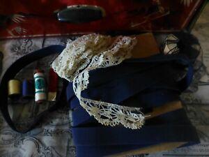 Lot= Boite Fer Couture Dessins Asiatiques Et Mercerie Diverse ,élastique Etc Facile à RéParer
