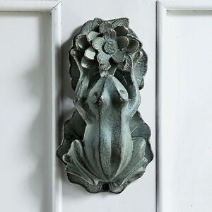 Image Is Loading Frog Amp Lily Pad Flower Door Knocker Toad