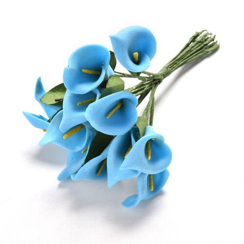 24//2 bunches Foam Calla Flower Bouquet DIY Scrapbooking Decorative Wreath RU