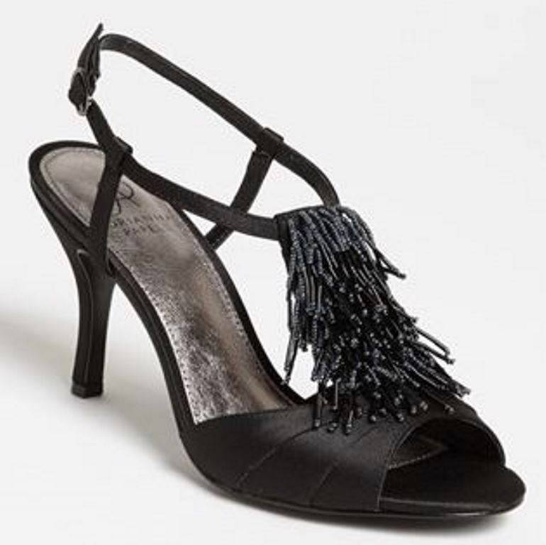 Zapatos para mujer Adrianna Papell Majesty T Correa Correa Correa Puntera abierta Tacones Negro Satinado  muchas concesiones