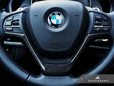AUTOTECKNIC CARBON FIBER STEERING WHEEL TRIM - BMW F15 X5 F16 X6 XDRIVE SDRIVE