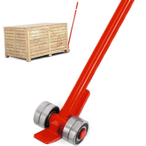 Prylever Bar Pry Lever Bar 6/' Length Lever 6600Lbs Labor-saving Durable Wheels