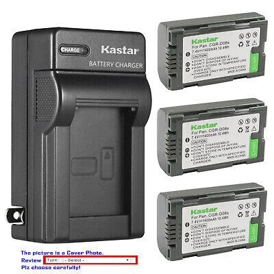 AG-DVC62 AG-DVC80 AG-DVC180 Mini DV Camcorder AG-DVC63 LCD Dual Quick Battery Charger for Panasonic AG-DVC60