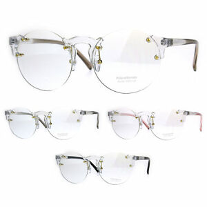 c3c55ffa0f Image is loading Unique-Rimless-Round-Circle-Clear-Lens-Eye-Glasses
