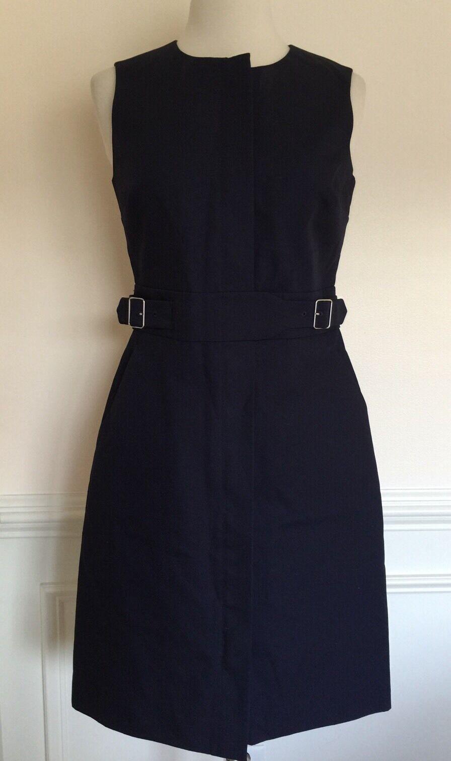 NEW JCREW Zip Front Sleeveless Dress 0 NAVY G2717 SPRING '17