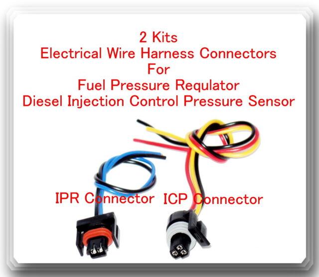 2 Pigtail Connectors Of IPR ICP Sensor Fits Iternational Navistar Dt466e Dt466