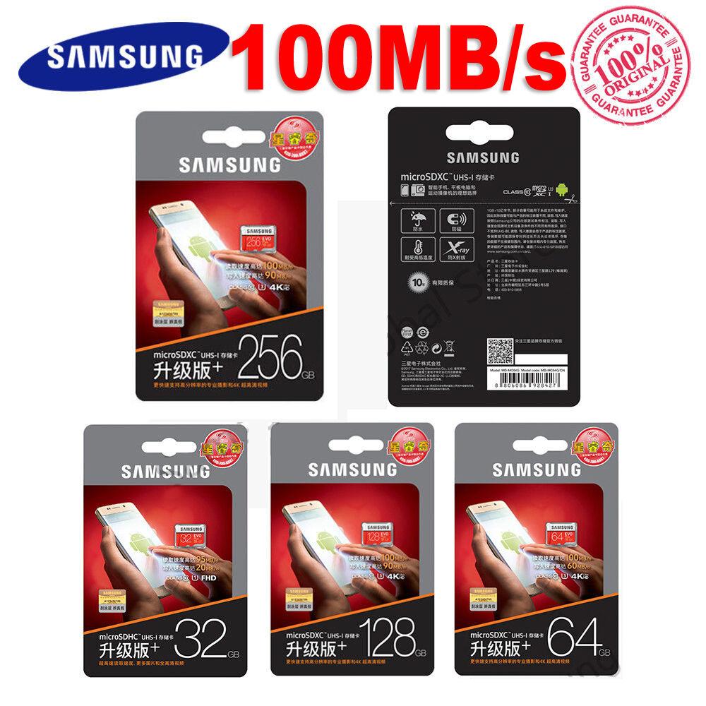 MicroSD SDXC TF tarjeta de Memoria Samsung 128GB clase 10 Nueva 95MB//s EVO PLUS