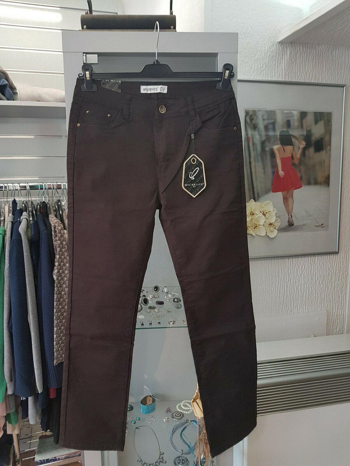 Stretchhose Jeans braun Gr.42 My Christy Jeans (Z152)
