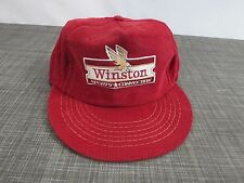 Winston Sports Connection Red Corduroy Cigarettes Eagle Racing Hat Cap Vintage