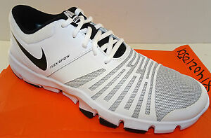 71bcce6f478a2 Image is loading NIKE-Flex-Show-TR5-Training-Shoes-White-Black-