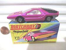 Lesney Matchbox 1970 MB75B Dark Pink ALFA CARABO Car UNPAINTED Base Nu in C9 Bx