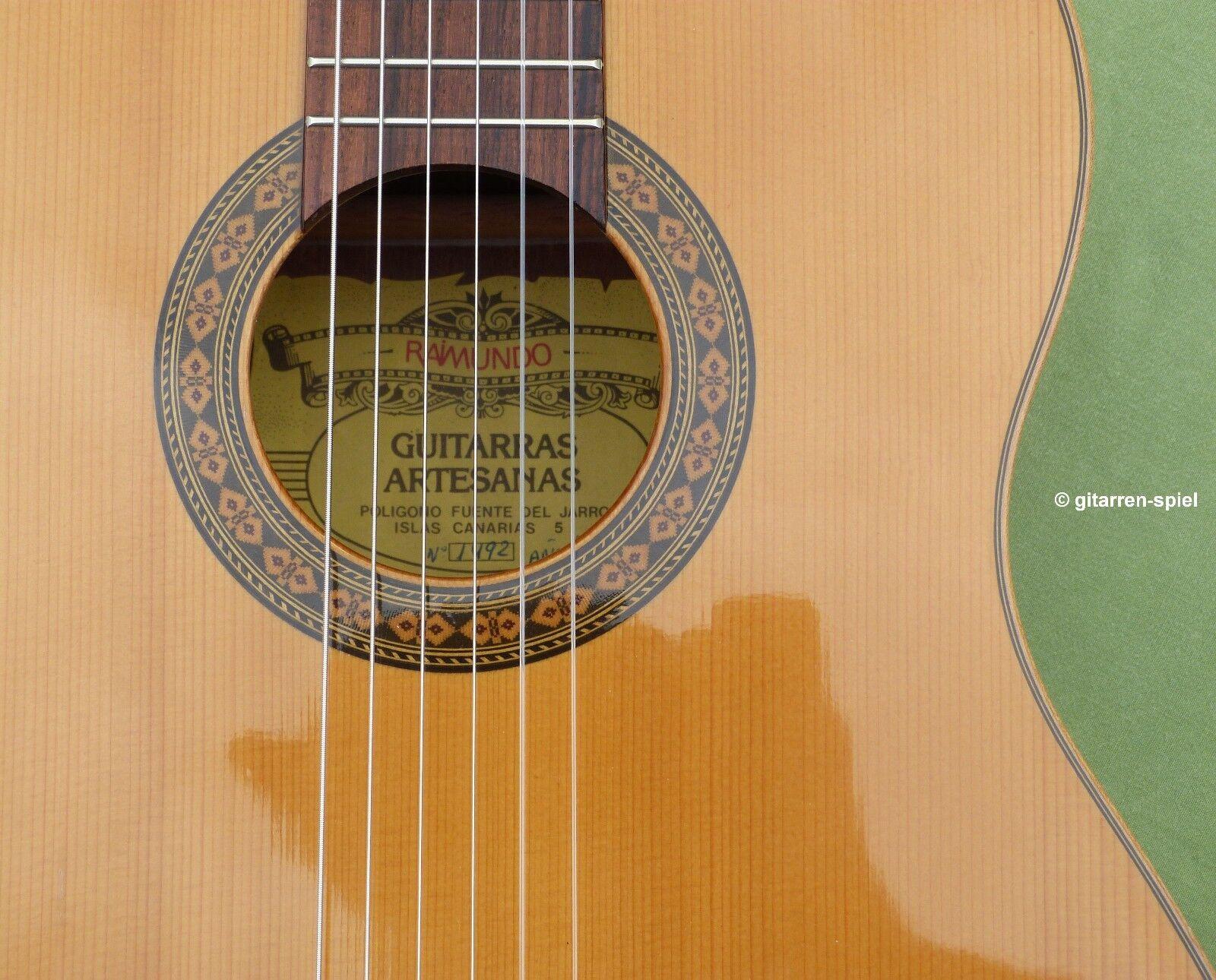7/8 Spanische Konzert-Gitarre Raimundo 1492 Fichte massiv klangvoll bundrein