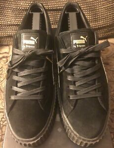 Puma-Fenty-Suede-Creepers-By-Rihanna-Black-Star-White-Men-s-Size-12