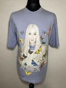 Cher Farewell Tour Lilac Butterflies Distressed Look Gig T Shirt Tee Women's XL