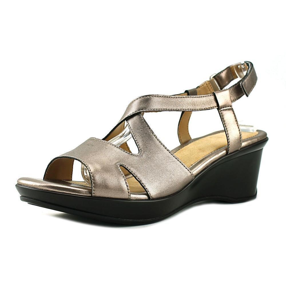 Naturalizer femmes Villette Leather Open Toe Casual Slingback Sandals