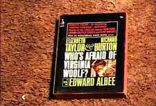 WHOS AFRAID VIRGINIA WOOLF PAPERBACK UNUSED PHOTO CVR LIZ TAYLOR RICHARD BURTON