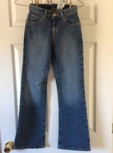 Gap-Kids-1969-Stretch-Flare-Leg-Size-12-Slim-Adjustable-Waist-Jeans-New