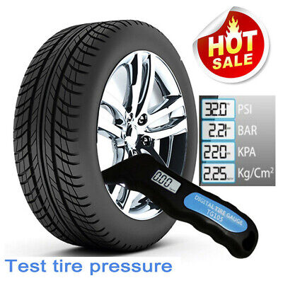 150PSI 4 Ranges Vehicle Wheel Tyre Air Pressure Digital Gauge Tester Meter Kit
