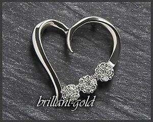 Diamant-Anhaenger-aus-Gold-mit-0-15ct-10-Karat-Weissgold-Damen-Herz-Neu