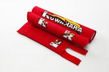Kuwahara Re-issued BMX V-Bar Pad Set  + Straight Handlebar Pad in Red