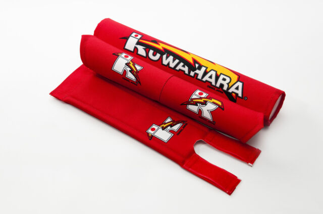 Kuwahara Re-issued BMX V-Bar Pad Set  + Straight Handlebar Pad in Red