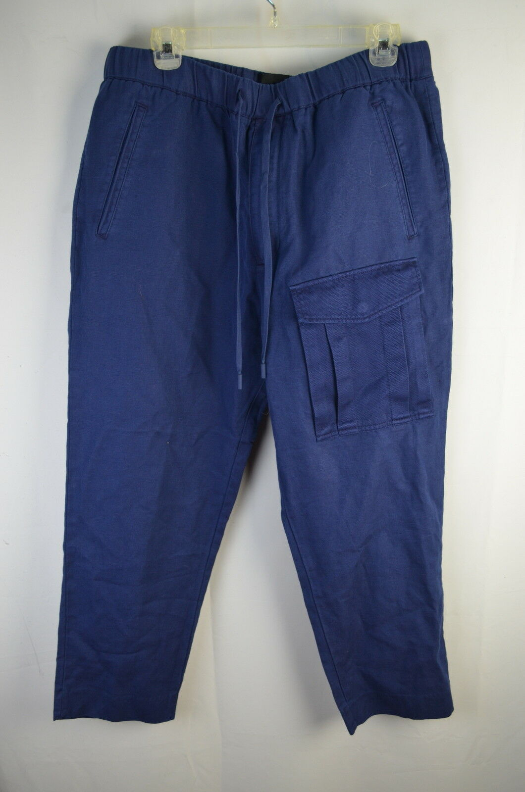 Armani Exchange Two Tone Linen Pants 36  36 Style-P6P102 Navy NEW NWT