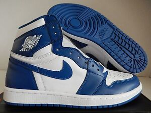 4b913b7340416 NIKE AIR JORDAN 1 RETRO HIGH OG WHITE-STORM BLUE SZ 16  555088-127 ...