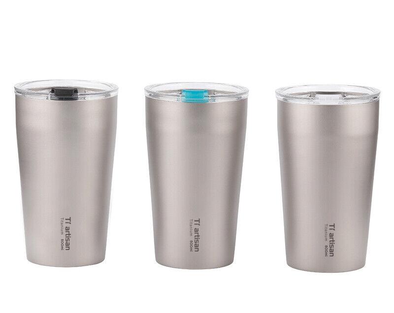 Titanium Double  Wall Beer Mug Portable Coffee Tea Drinking Mug Car Cup  welcome to choose