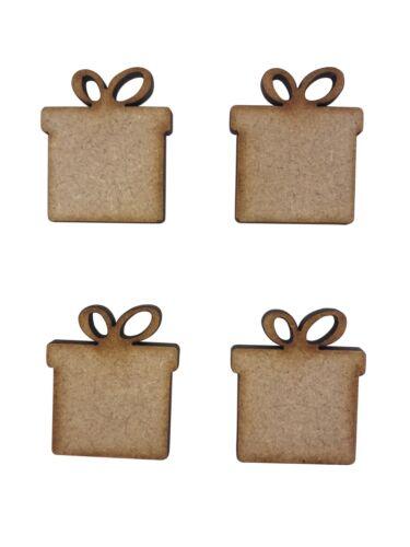 20x Presents Plain 3cm Wood Craft Embelishments Laser Cut Shape MDF