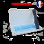 miniature 1 - Boite-de-rangement-blanche-et-attache-noire-pour-masque